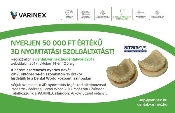 Dental World 2017 3D nyomtatási szolgáltatás